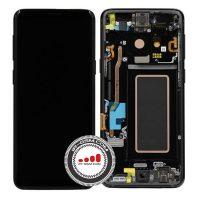 تاچ ال سی دی سامسونگ سرویس پک با فریم مشکی LCD SAMSUNG G960 S9