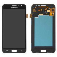 تاچ ال سی دی سامسونگ کارکرده گلس تعویض مشکی LCD SAMSUNG J320 J3 2016 BLACK