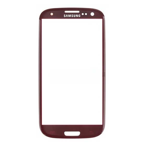 گلس تعمیراتی گوشی سامسونگ قرمز Replacement Outer Glass Front Glass Samsung Galaxy S3 I9300 red