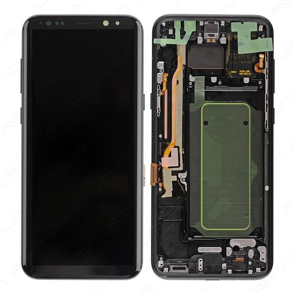 LCD SANSUNG S8 PLUS ORIGINAL WITH FRAME BLACK ال سی دی