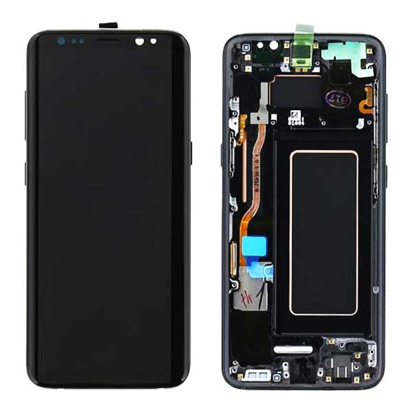 تاچ و ال سی دی سامسونگ روکار مشکی با فرم LCD S8 PLUS G955