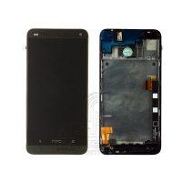 تاچ ال سی دی گوشی اچ تی سی مشکی روکار HTC One M7 801e Black WITH FREM