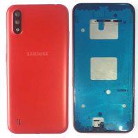 قاب کامل سامسونگ قرمز Full Cover Samsung A01