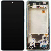 تاچ ال سی دی سامسونگ LCD SAMSUNG A725 A72 اورجینال شرکتی با فریم آبی